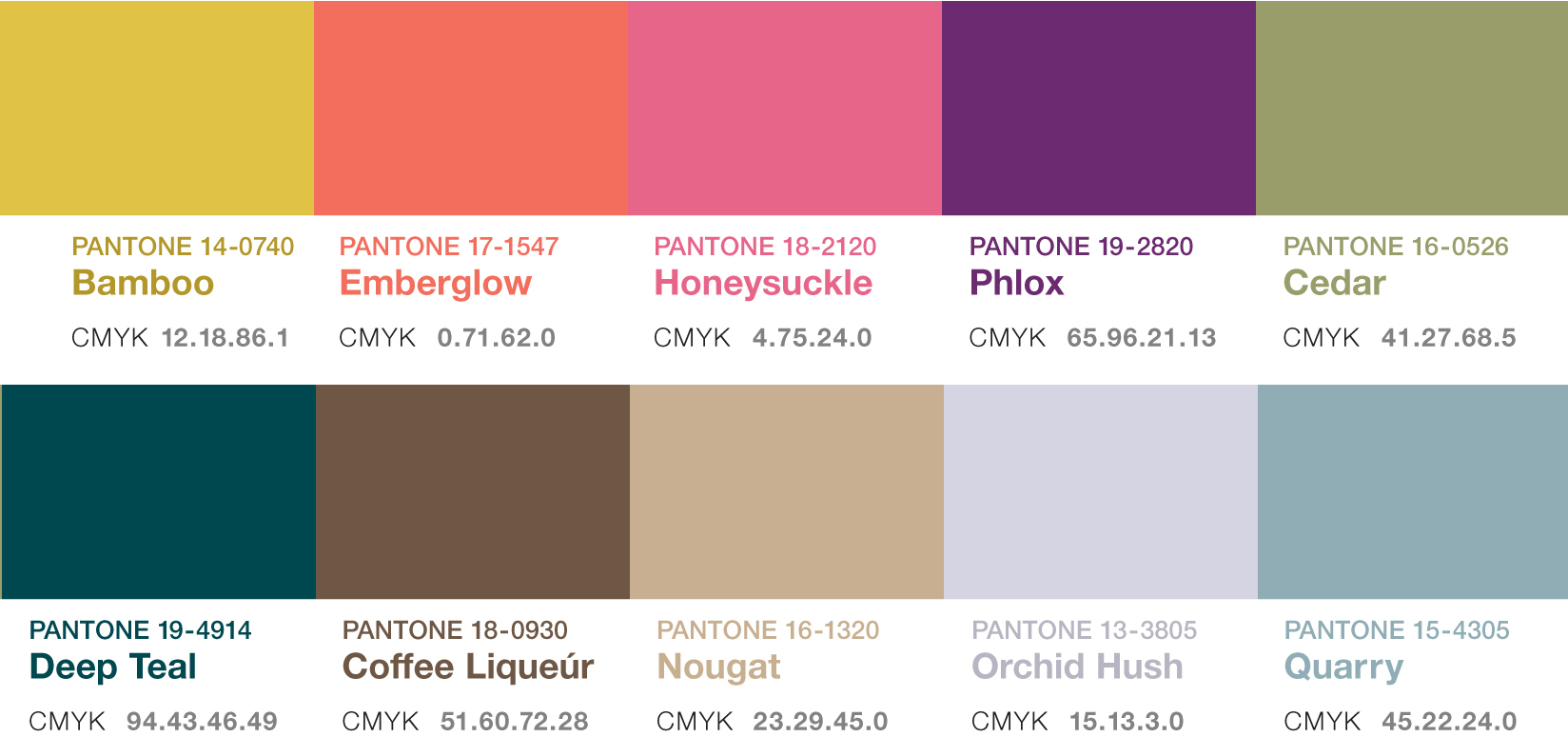 Pantone for Colores pintura pared 2016